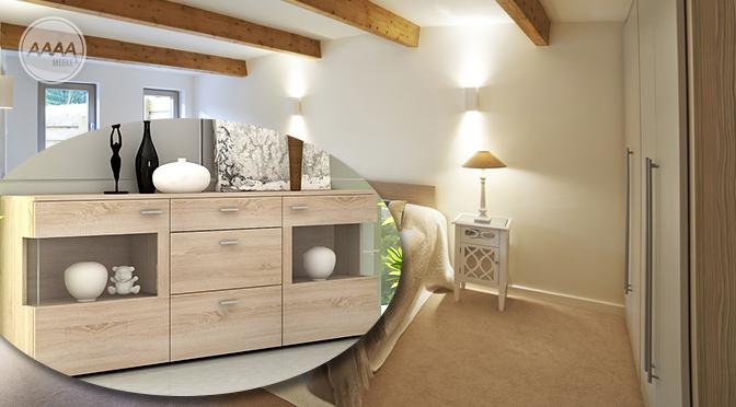 Modna komoda w sypialni