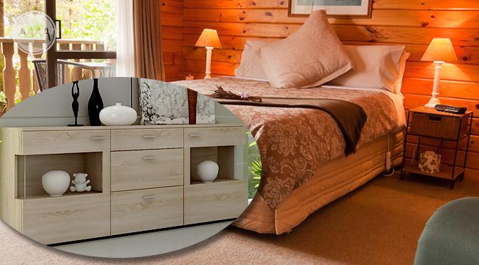 Nowoczesna komoda w sypialni