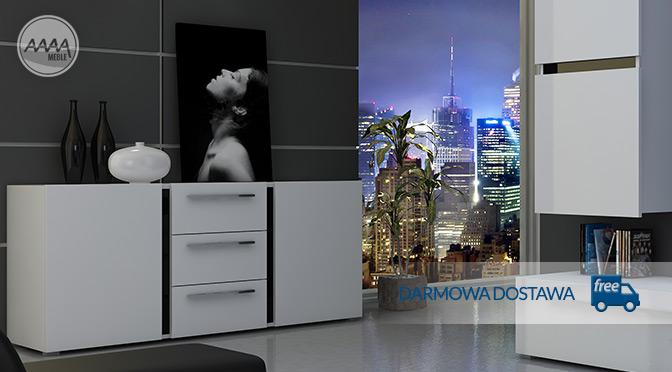 Biała komoda – nowoczesny look