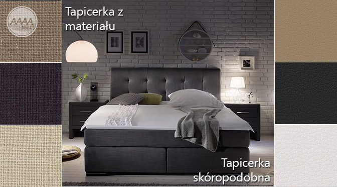 Kolory łóżek kontynentalnych BOXSPRING