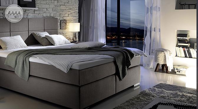 Łóżko Boxspring do eleganckiej sypialni