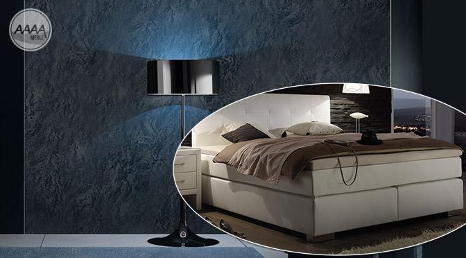 Łóżko kontynentalne Boxspring w modych aranżacjach sypialni