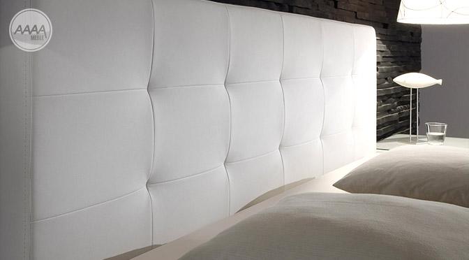 Eleganckie białe łóżko kontynentalne do sypialni
