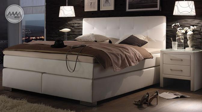 Meble do sypialni - łóżko kontynentalne i szafki nocne