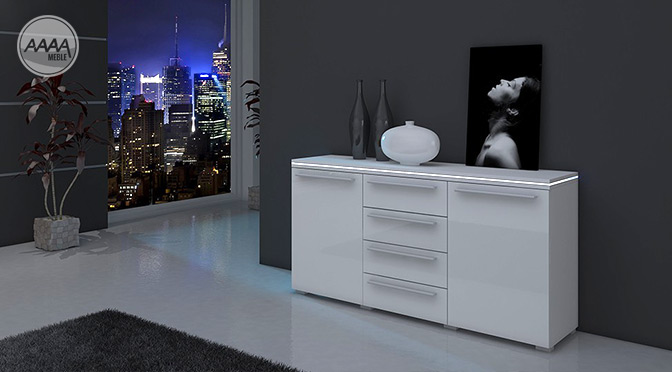 Biała komoda do sypialni