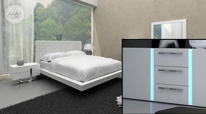 białe meble w sypialni kolor ścian