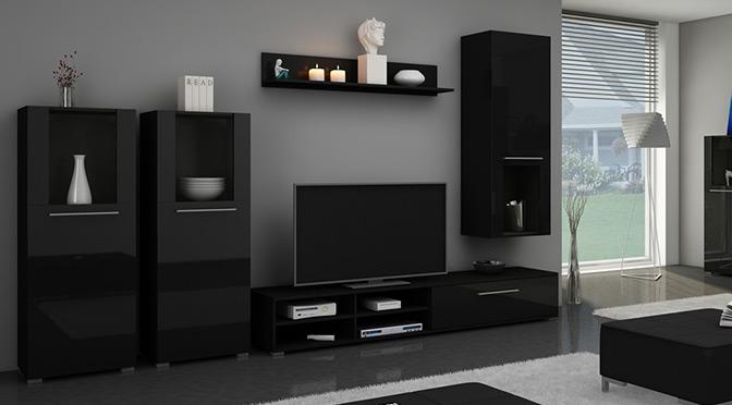 Czarne meble do salonu – jaki kolor ścian?