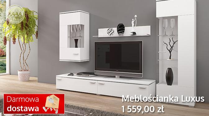 Białe meble w salonie - kolekcja Luxus