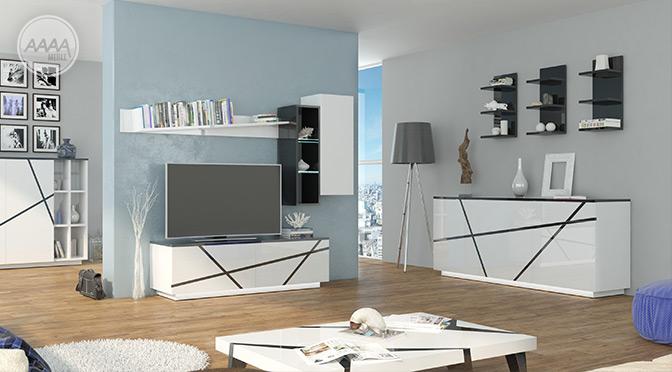 Białe meble salon